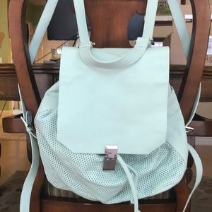 Topshop mint green backpack
